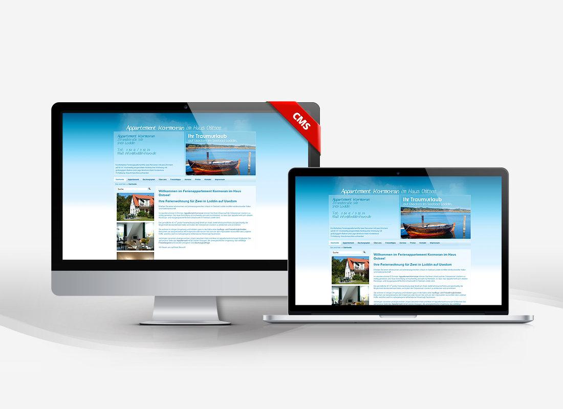Appartement Kormoran - Dupp GmbH CMS Webdesign Referenz