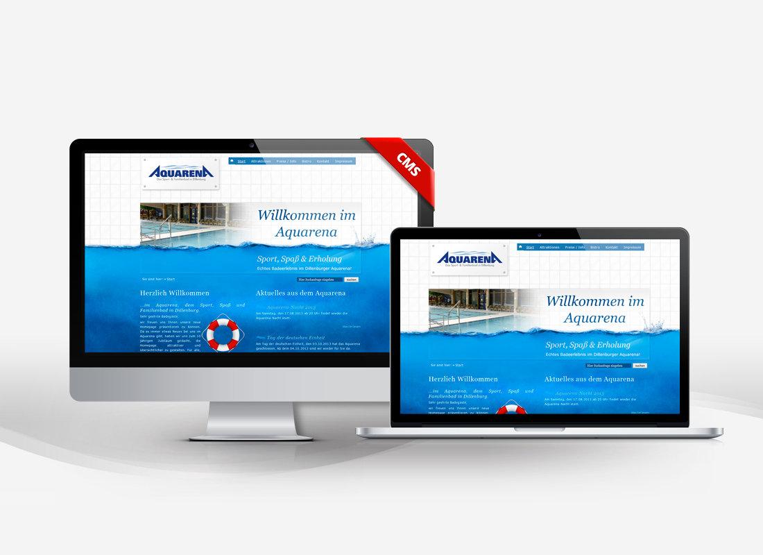 Aquarena Schwimmbad Dillenburg - Dupp GmbH CMS Webdesign Referenz