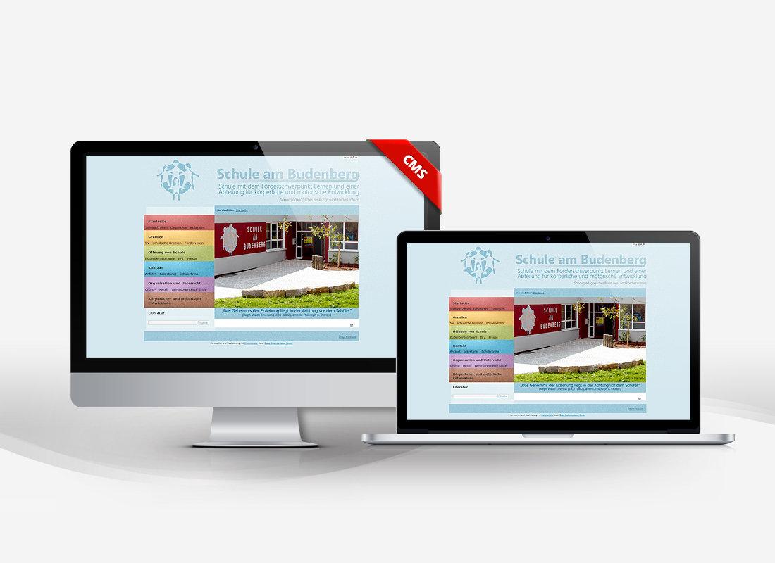 Schule am Budenberg - Dupp GmbH CMS Webdesign Referenz