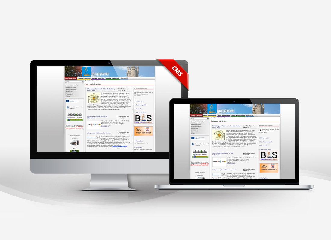 Stadt Dillenburg - Dupp GmbH CMS Webdesign Referenz