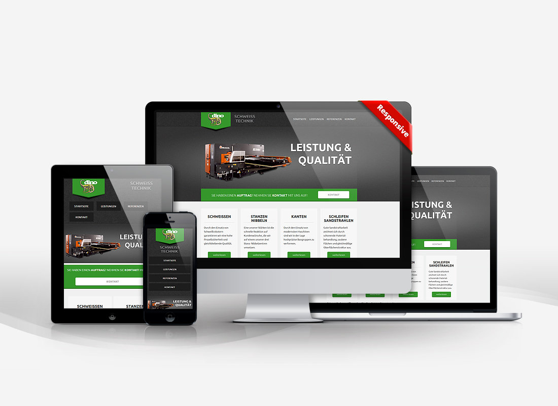 Dino Schweißtechnik - Dupp GmbH CMS Webdesign Referenz