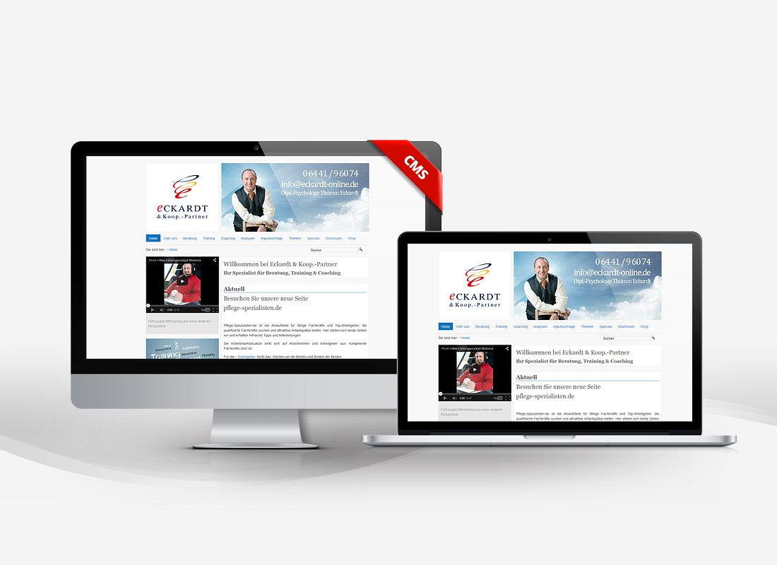 Eckhardt Beratung - Dupp GmbH CMS Webdesign Referenz