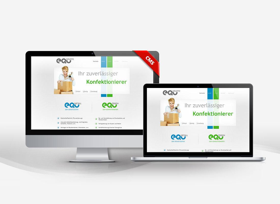 EQu Konfektionierer - Dupp GmbH CMS Webdesign Referenz
