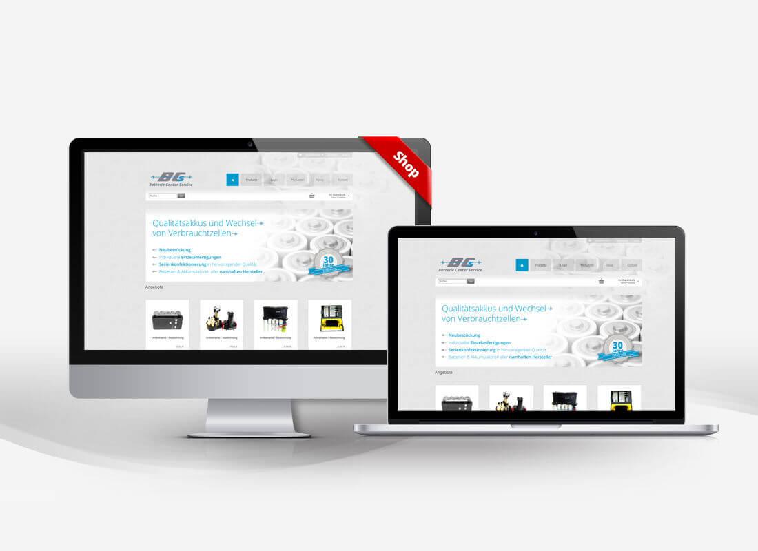 Ersatzakku Akkus und Batterien - Dupp GmbH Shop Webdesign Referenz