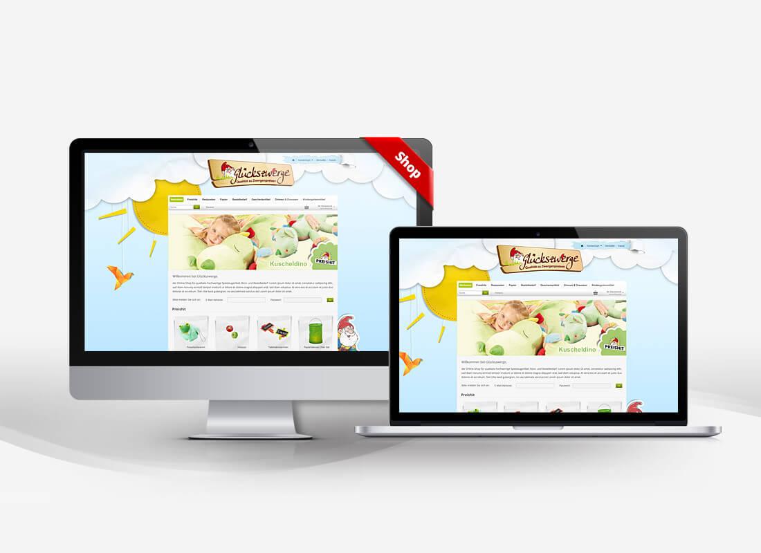 Glückszwerge Kinderspielzeug - Dupp GmbH Shop Webdesign Referenz