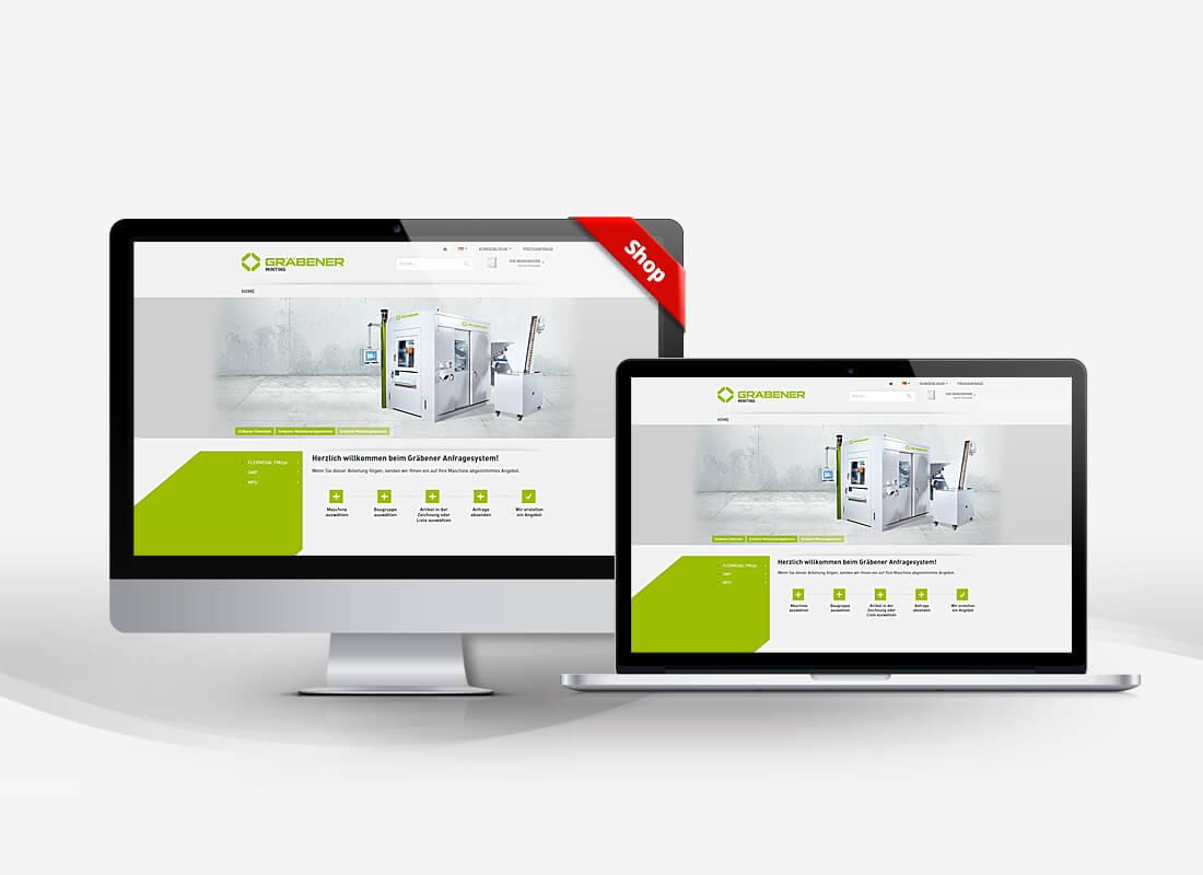 Gräbener Pressensysteme - Dupp GmbH Shop Webdesign Referenz