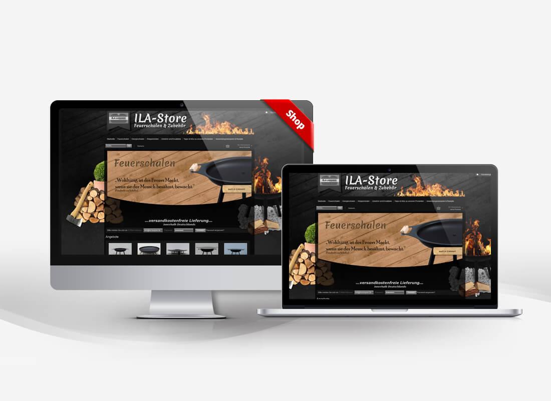 ILA Feuerschalen - Dupp GmbH Shop Webdesign Referenz
