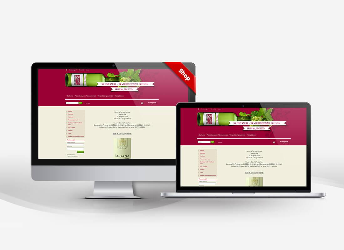 Korkenzieher Herborn Weingeschäft - Dupp GmbH Shop Webdesign Referenz