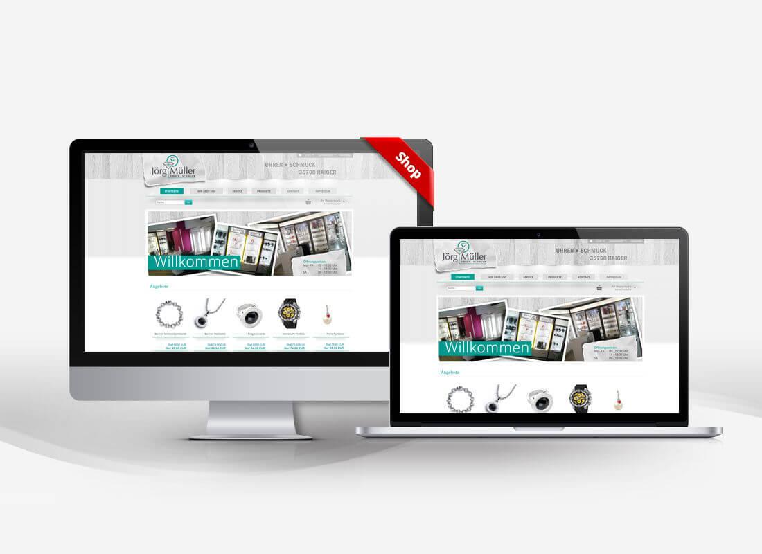 Mueller Uhren Haiger - Dupp GmbH Shop Webdesign Referenz