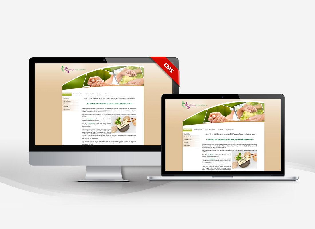 Pflegespezialisten - Dupp GmbH CMS Webdesign Referenz