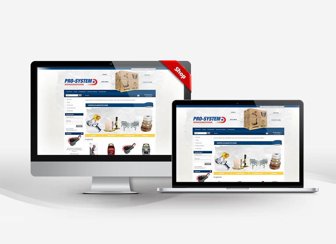 Pro-System - Dupp GmbH Shop Webdesign Referenz