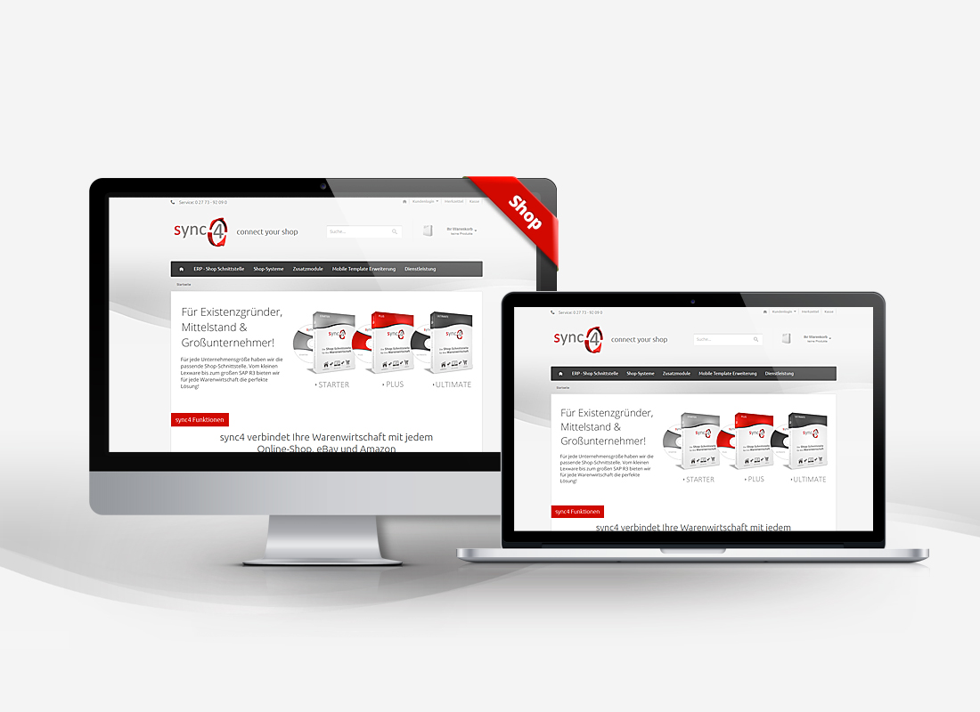 sync4 Onlineshop - Dupp GmbH Shop Webdesign Referenz