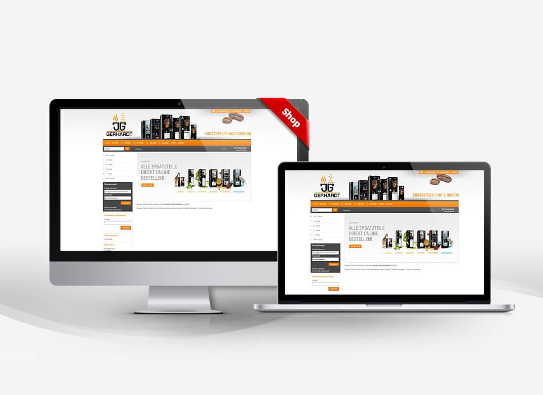 Vending Automaten Ersatzteile - Dupp GmbH Shop Webdesign Referenz