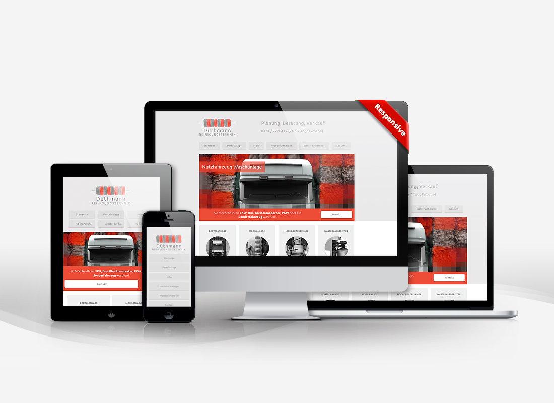 WDRT Düthmann Reinigungstechnik - Dupp GmbH CMS Webdesign Referenz