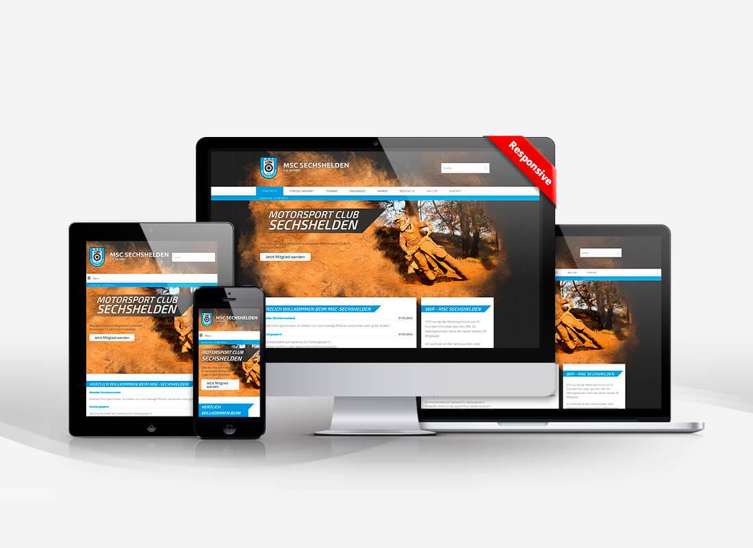 Motorsport Sechshelden - Dupp GmbH CMS Webdesign Referenz