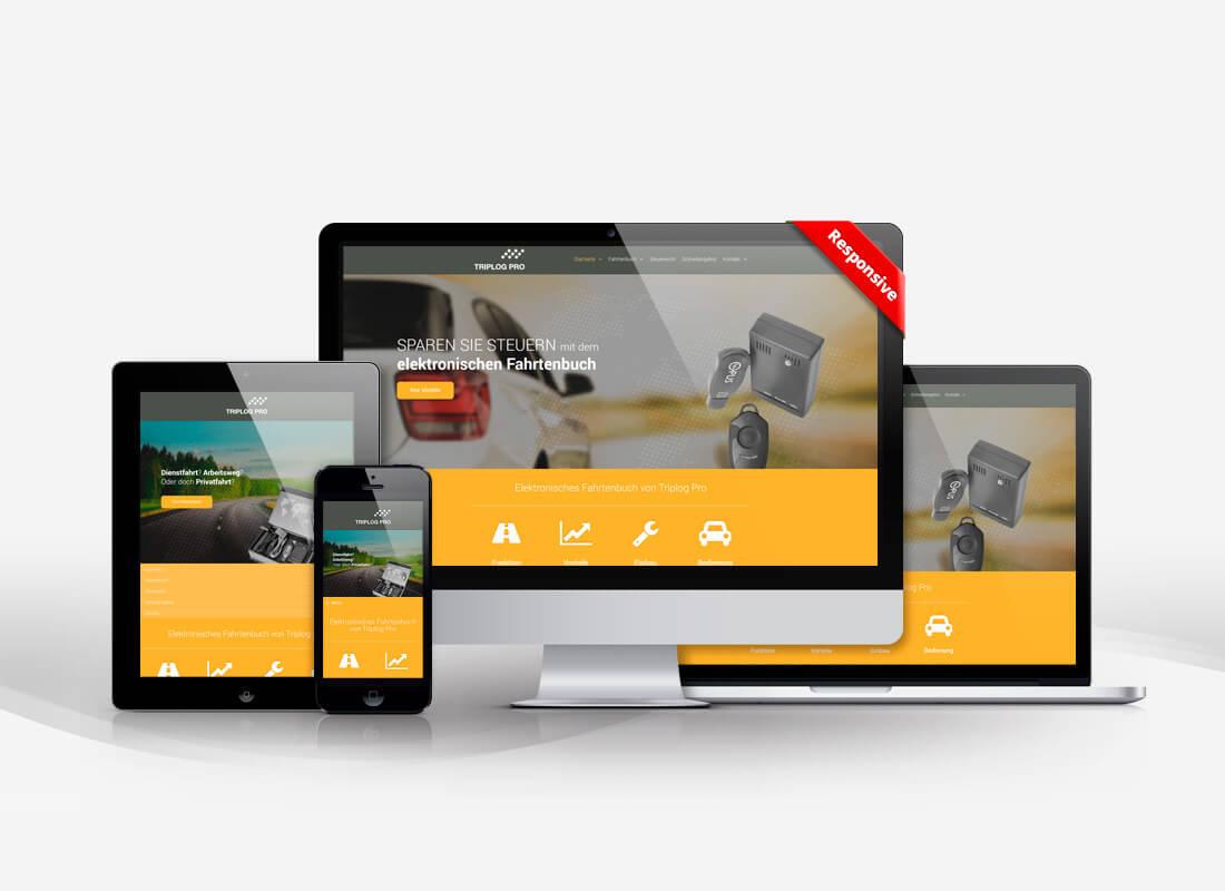 Elektronisches Fahrtenbuch, responsives Design mit Wordpress