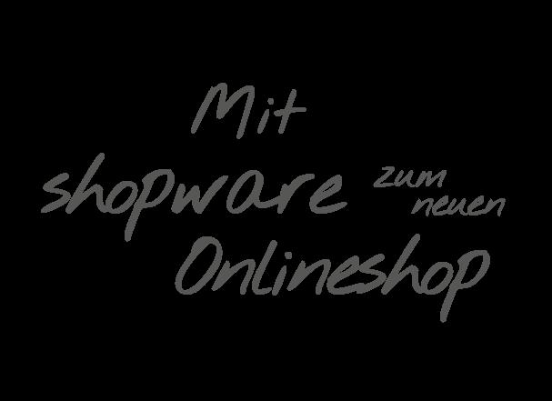 Mit shopware zum neuen Onlineshop